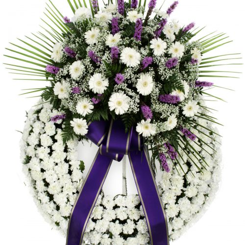 Imagen - Corona de Liatrix o Iris y Gerberas