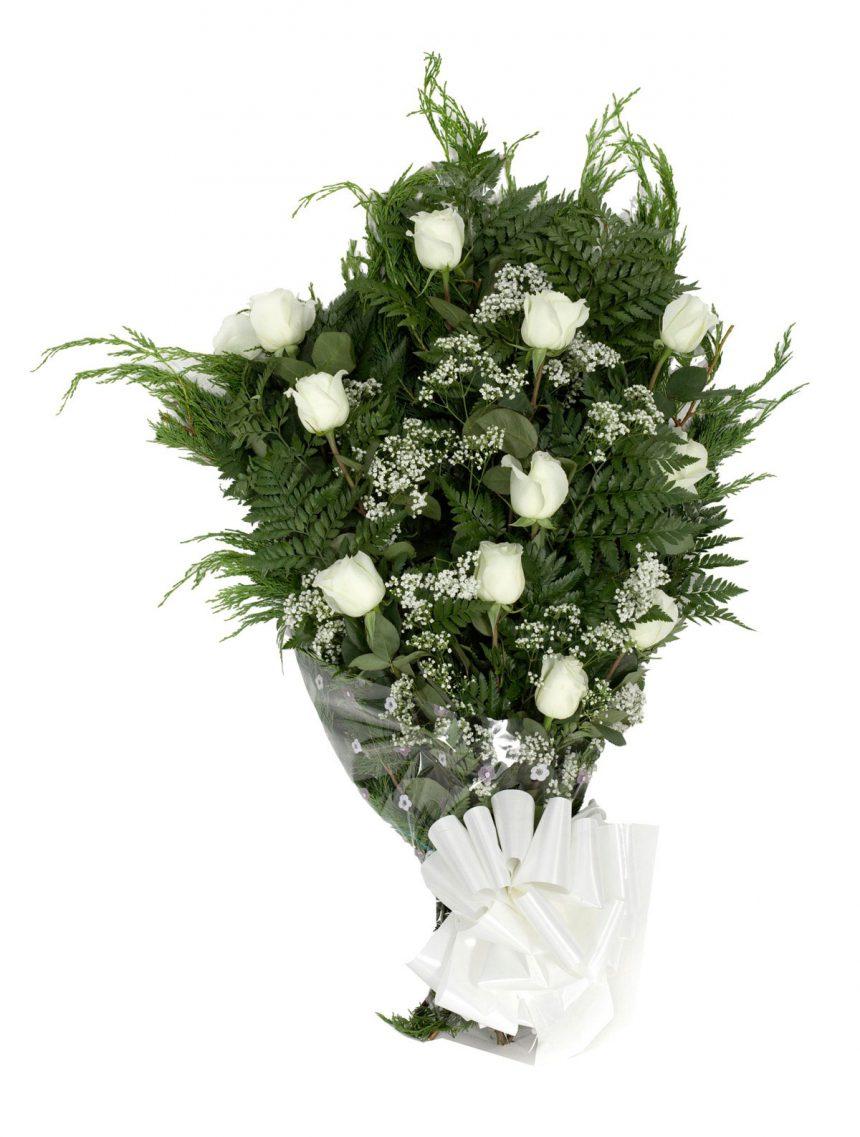 Imagen - Ramo plano de 12 rosas